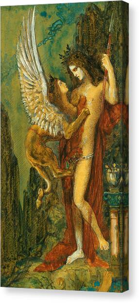 Mythological Creatures Canvas Print -  The Sphinx by Gustave Moreau