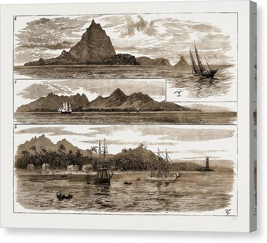 Krakatoa Canvas Print -  The Volcanic Eruption At Java, Indonesia by Litz Collection