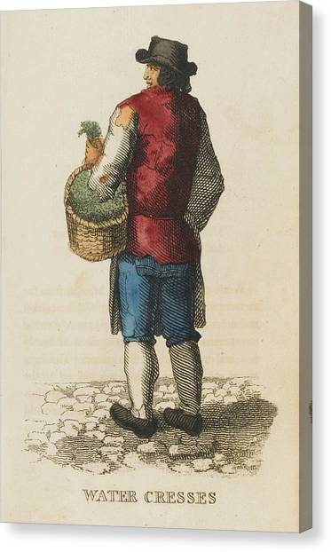 Watercress Canvas Print -  The Watercress Seller         Date 1823 by Mary Evans Picture Library