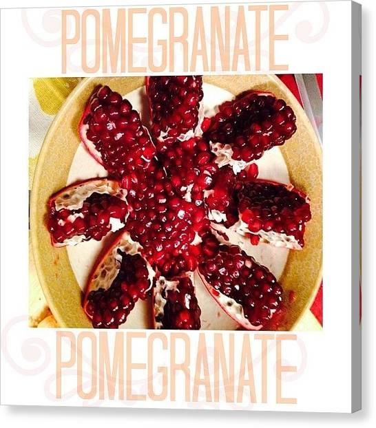 Pom-pom Canvas Print - & This Is How You Peel A Pomegranate by Lena Trofi