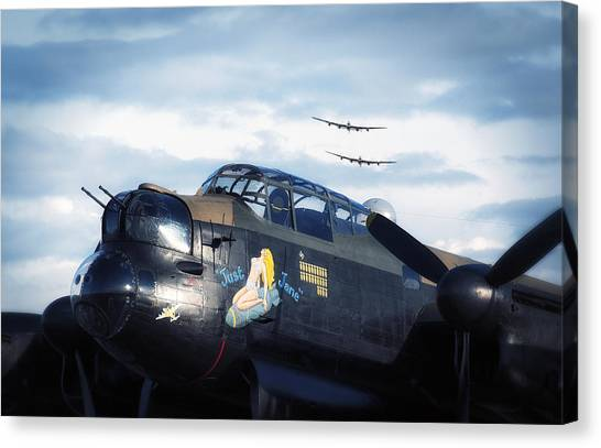 Three Lancasters Canvas Print