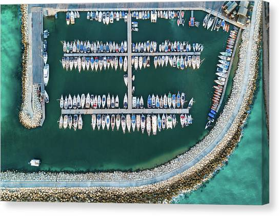Marinas Canvas Print - @ Tlv Marina by Ofer Maor