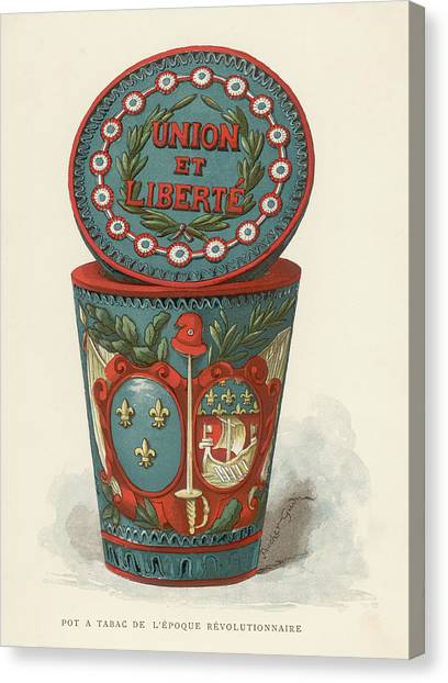 Liberte Canvas Print -  Tobacco Box From The French by Mary Evans Picture Library