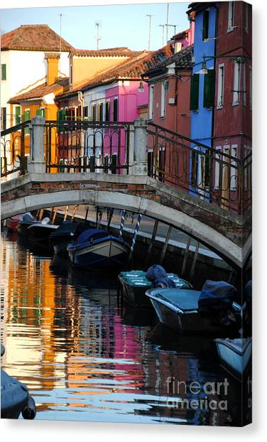 Torcello Color Two Canvas Print by Jacqueline M Lewis