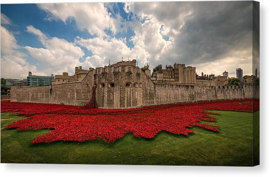 Tower Of London Canvas Print -   Tower Of London Remembers.  by Ian Hufton