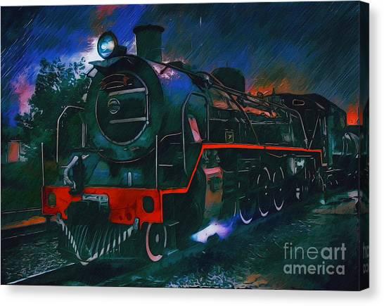 Train Canvas Print by Andrzej Szczerski