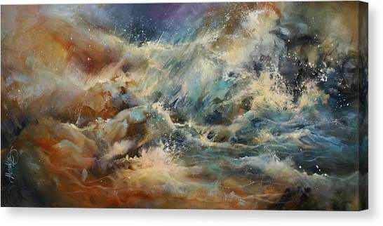 Abstract Expressionism Canvas Print - ' Turmoil ' by Michael Lang