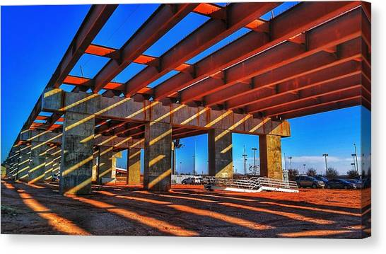 Oklahoma Canvas Print -  Under Construction by Lance Kenyon
