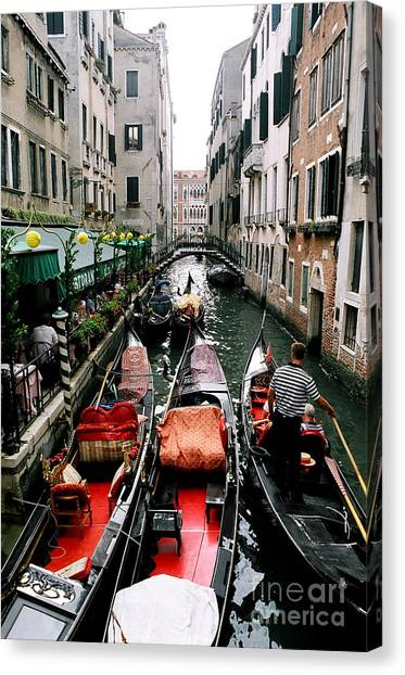 Venice Canal Canvas Print by Sandy MacNeil