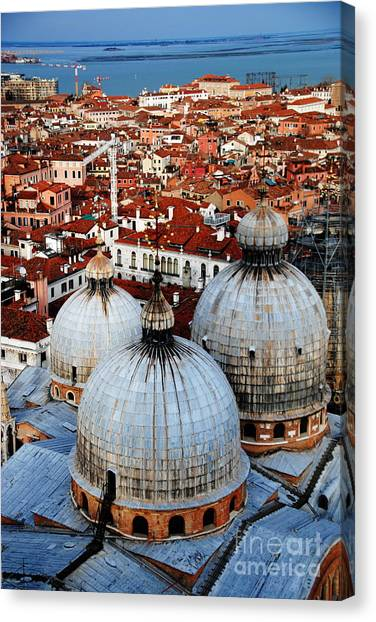 Venice In Glory - Vertical Canvas Print by Jacqueline M Lewis
