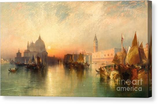 Ocean Sunsets Canvas Print -  View Of Venice by Thomas Moran
