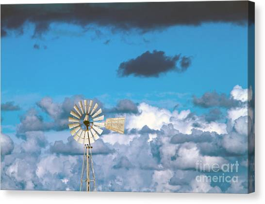 Peace Tower Canvas Print -  Water Windmill by Stelios Kleanthous