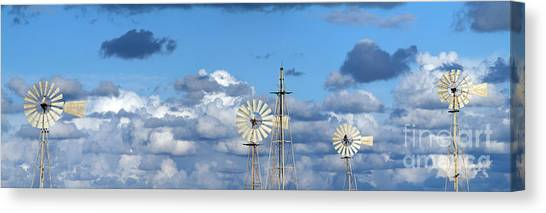 Peace Tower Canvas Print -  Water Windmills by Stelios Kleanthous