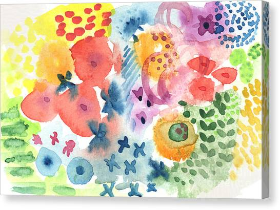 Plant Canvas Print -  Watercolor Garden by Linda Woods