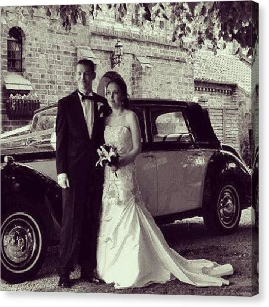 Tuxedo Canvas Print - # Wedding#marriage#blackandwhite#bride by Vicky Combs