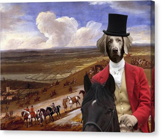 Weimaraners Canvas Print -  Weimaraner Art Canvas Print  by Sandra Sij