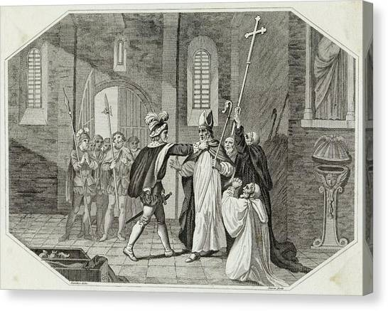 William I Arrests Odo, Bishop Canvas Print by Mary Evans Picture Library