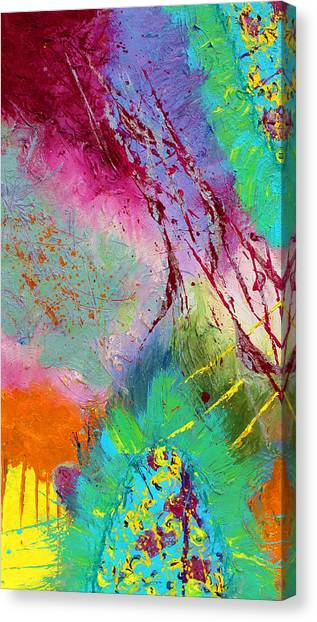 Modern Abstract Diptych Part 1 Canvas Print