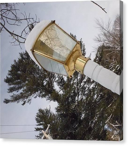 Spam Canvas Print - :) #winter #lights #like #pretty by Zoe Sutter