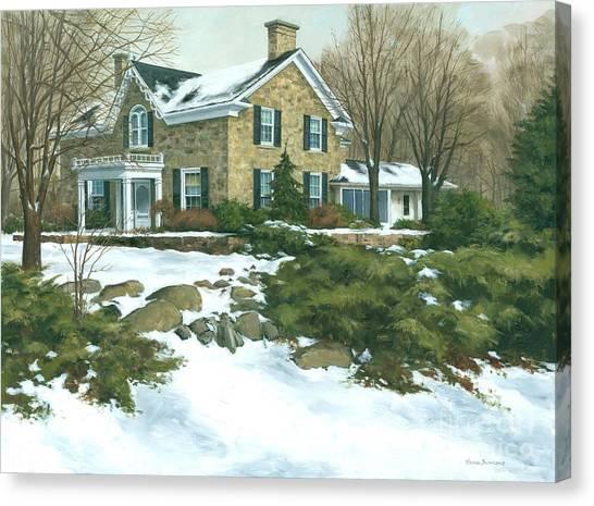 Winter's Retreat   Canvas Print by Michael Swanson