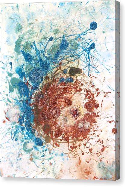Lyrical Abstraction Canvas Print - Yoni With The Seed Of Life by Sora Neva