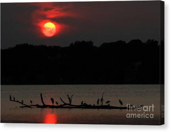 0016 White Rock Lake Dallas Texas Canvas Print