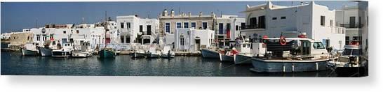 0084246 - Paros - Naousa Canvas Print by Costas Aggelakis