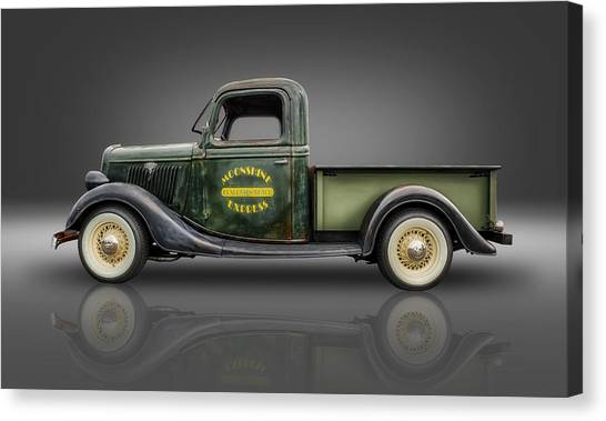 1935 Ford Pickup - Moonshine Express Canvas Print