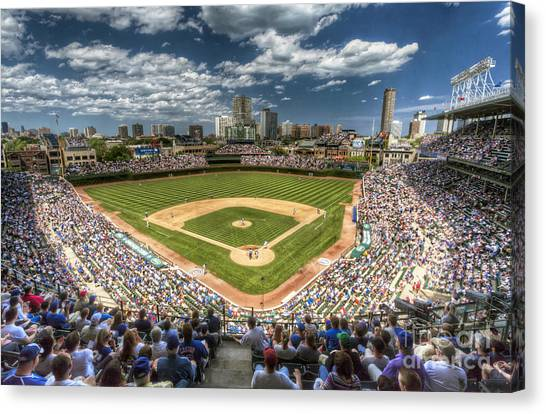 University Of Illinois Canvas Print - 0234 Wrigley Field by Steve Sturgill