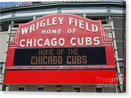 Wrigley Field Canvas Print - 0334 Wrigley Field by Steve Sturgill