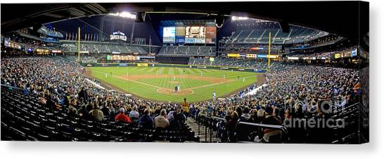 Seattle Mariners Canvas Print - 0434 Safeco Field Panoramic by Steve Sturgill