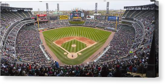 Chicago White Sox Canvas Print - 0492 Us Cellular Field Chicago Illinois by Steve Sturgill