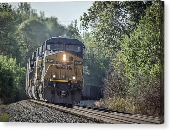 05.07.14 Csx Coal Train At Nortonville Ky Canvas Print by Jim Pearson