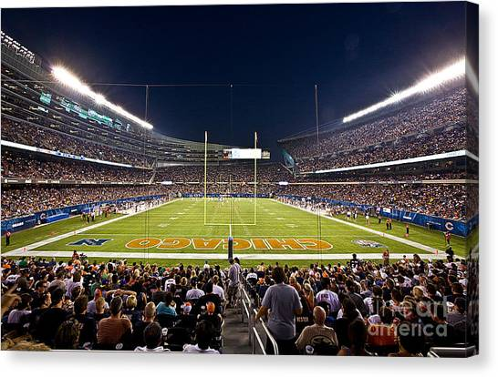 Soldier Field Canvas Print - 0588 Soldier Field Chicago by Steve Sturgill