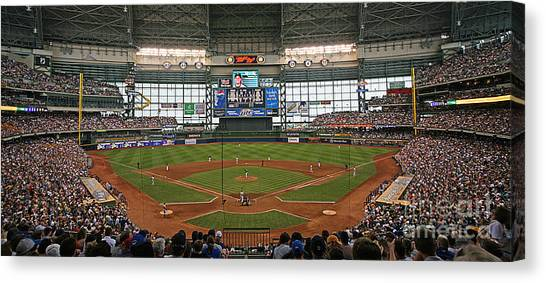 Milwaukee Brewers Canvas Print - 0613 Miller Park by Steve Sturgill