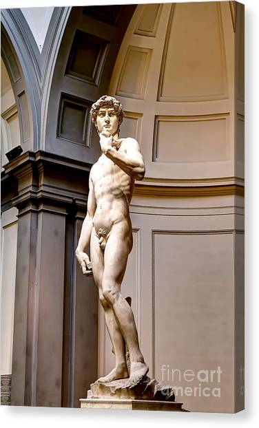 The Uffizi Gallery Canvas Print - 0768 Statue Of David by Steve Sturgill