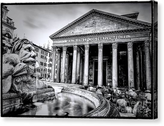 0786 The Pantheon Black And White Canvas Print