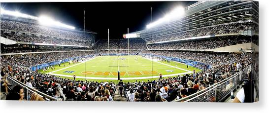 0856 Soldier Field Panoramic Canvas Print