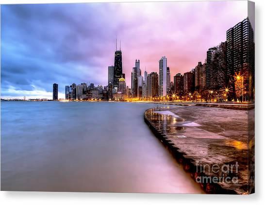 0865 Chicago Sunrise Canvas Print