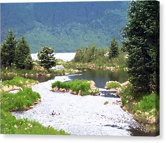 092014 Water Color Alaskan Wilderness Canvas Print