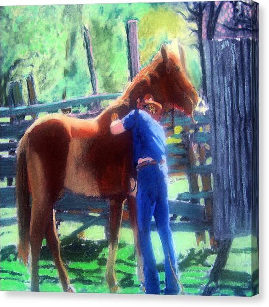 092814 Louisiana Cow Boy Canvas Print
