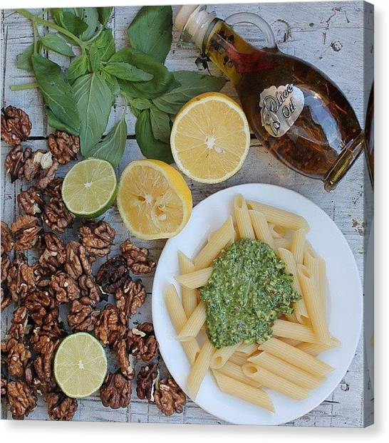Smoothie Canvas Print - Walnut Pesto by Kateryna Klymentenko