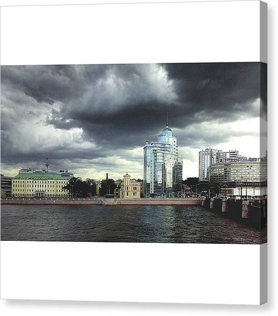 Rainclouds Canvas Print - Могучие тучи #petersburg by Irin Kirpicheva