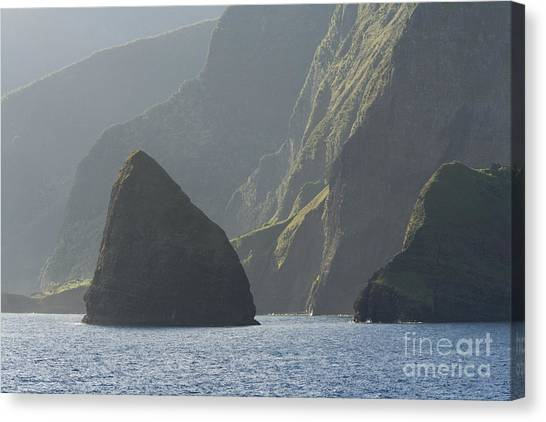 Kalaupapa Cliffs Canvas Print -  Okala by John De Mello