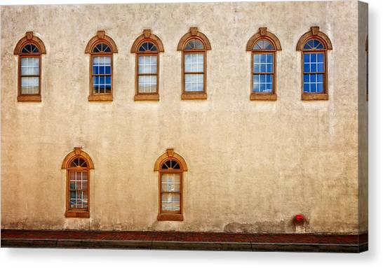 Office Windows Overlooking Side Street Canvas Print