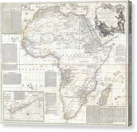 Why We Are Here Canvas Print - 1794 Boulton And Anville Wall Map Of Africa by Paul Fearn
