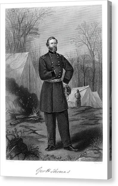 Notable Canvas Print - 1800s 1860s Portrait George Thomas by Vintage Images