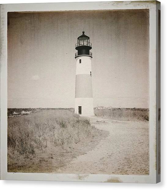Lighthouses Canvas Print - 1850 Sankaty Head by Natasha Marco