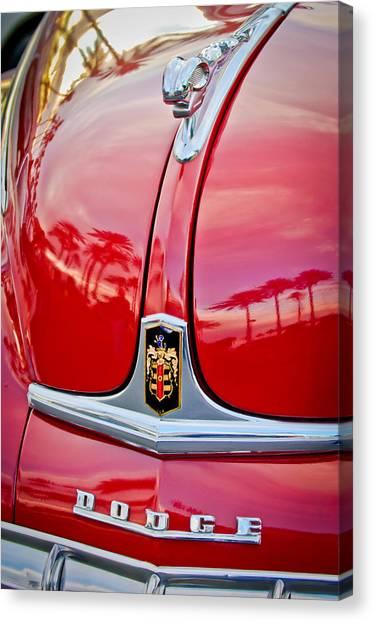 Dodge Canvas Print - 1948 Dodge Ram Hood Ornament by Jill Reger