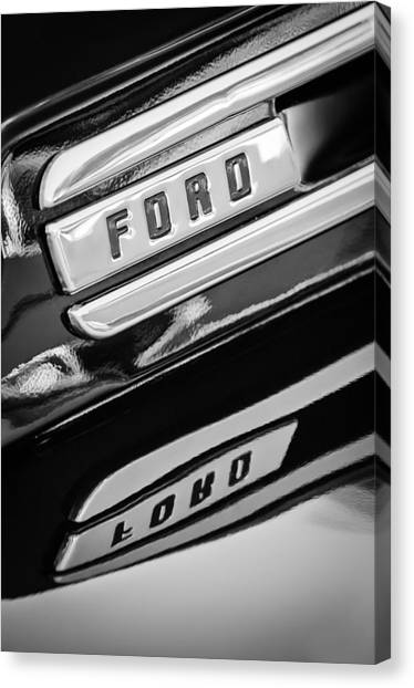 Ford Truck Canvas Print - 1948 Ford F-1 Pickup Truck by Jill Reger